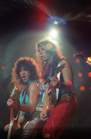 Paul Stanley and Vinnie Vincent