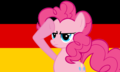 Pinkie Salutes Germany