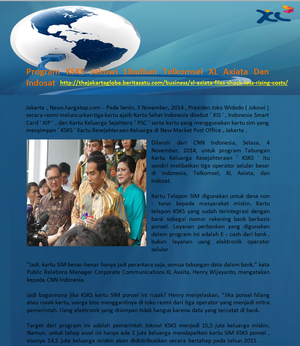 Program KSKS Jokowi Libatkan Telkomsel XL Axiata Dan Indosat
