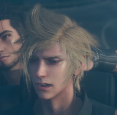 Final Fantasy XV achtergrond possibly containing a portrait entitled Prompto's new design