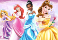 Rapunzel,Ariel,Tiana and Belle