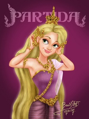 Rapunzel in Thai Costume