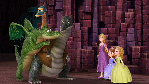 Sofia The First wallpaper containing a triceratops entitled Rapunzel on Sofia the First