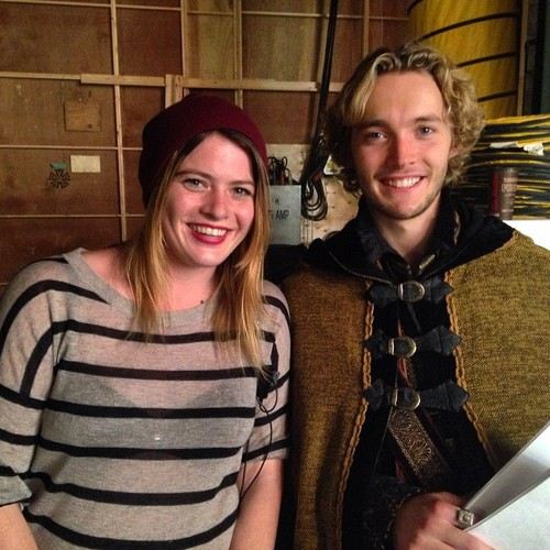 Toby Regbo wallpaper with a cleaver titled Reign // BTS foto