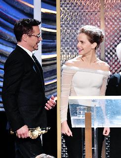 Robert Downey Jr and Emma Watson @ BAFTA LA Britannia Awards 2014 10/30