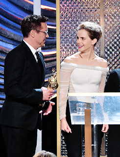 Robert Downey Jr and Emma Watson @ BAFTA LA Britannia Awards 2014 10/30