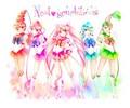 Sailor Quartet - sailor-moon fan art