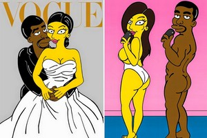 Simpsons : Kayne West and Kim Kardashion