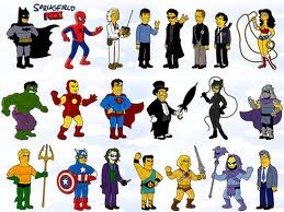 Simpsons as superheroes