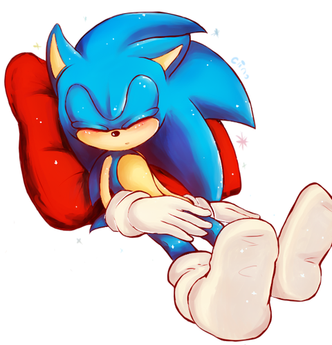 Sonic the Hedgehog wallpaper called Sleepy baby