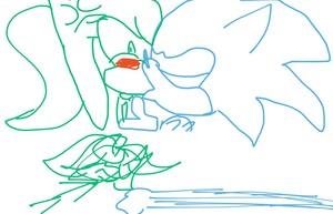 Sonic kissed Amelia
