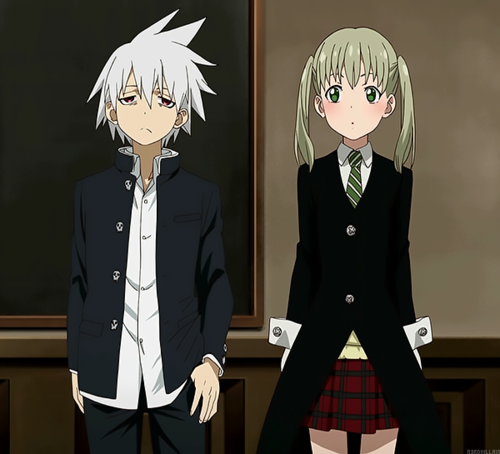 Maka Albarn kertas dinding with a business suit entitled Soul and Maka in Soul Eater Not!