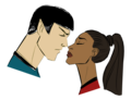 Spock  - spock-and-uhura fan art