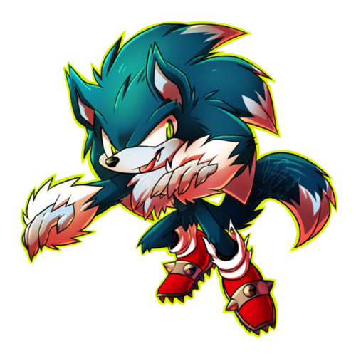 Nhím Sonic hình nền possibly with anime titled Spooky Werewolf <3
