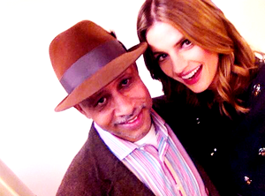 Stana and Ruben Santiago-BTS