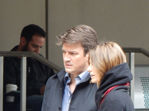 Nathan Fillion & Stana Katic wallpaper titled Stanathan-BTS 7x11