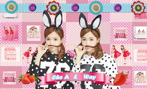 strawberi susu (Crayon Pop) kertas dinding
