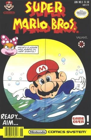 Super Mario Bros. comic covers