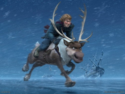 Frozen wallpaper entitled Sven and Kristoff wallpaper