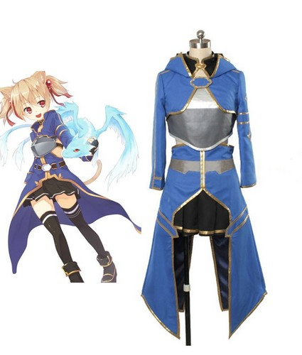 Sword Art Online wallpaper possibly containing a surcoat and a tabard called Sword Art Online 2 Silica cosplay costume