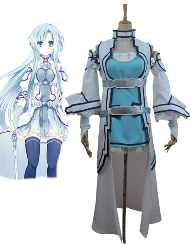 Sword Art Online wallpaper probably with a surcoat and a tabard called Sword Art Online ALO Alfheim Online Yuki Asuna Cosplay Costume