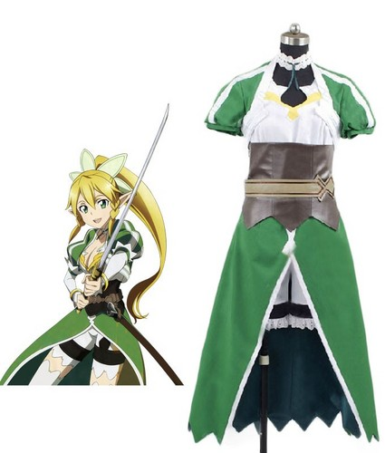 Sword Art Online wallpaper possibly containing a surcoat entitled Sword Art Online Leafa cosplay costume