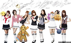 T-ara with sign wallpaper