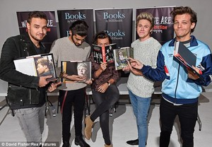 THE BOYS (MINUS LOUIS) TODAY AT THE WHO WE ARE BOOK SIGNING. 29/10/14
