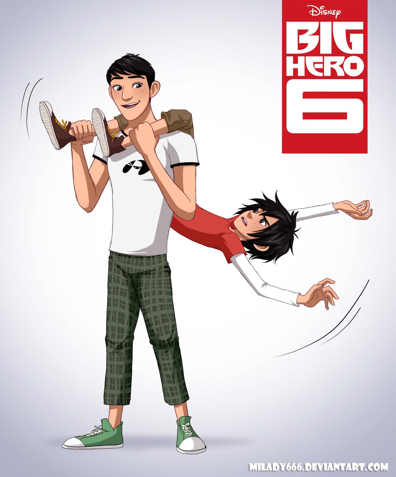 Tadashi and hiro big hero 6 fan art 37719031 fanpop