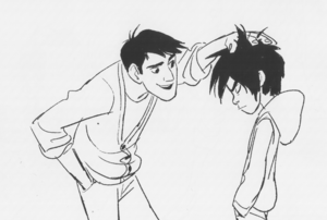 Tadashi and Hiro concept art