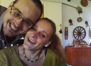 Testing the webcam with my mom :D