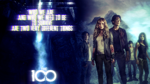 100 (Сотня) сериал Обои probably with a концерт and a sign entitled The 100 Обои