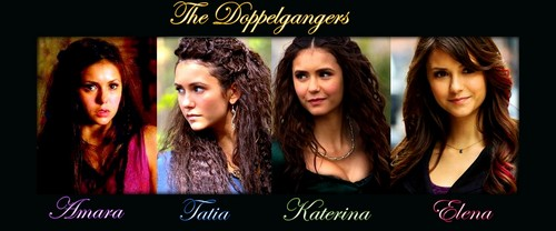 The Vampire Diaries پیپر وال with a portrait titled The Doppelgangers