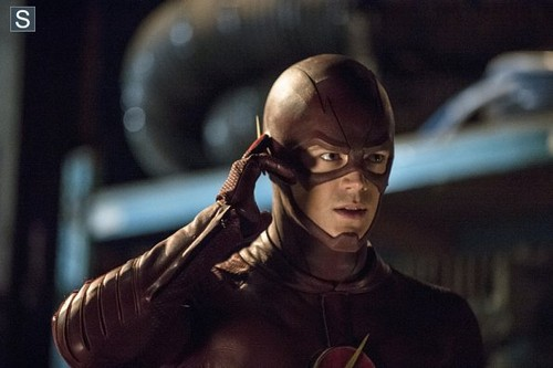 The Flash (CW) দেওয়ালপত্র probably containing a sign entitled The Flash - Episode 1.06 - The Flash Is Born - Promo Pics