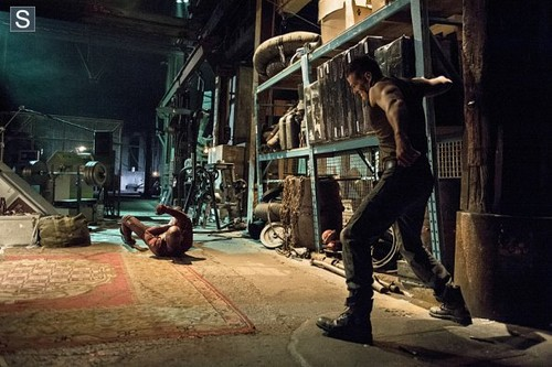 The Flash (CW) वॉलपेपर possibly containing a lumbermill, a street, and a revolving door called The Flash - Episode 1.06 - The Flash Is Born - Promo Pics