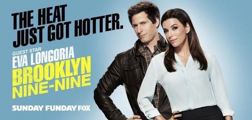 Brooklyn Nine-Nine দেওয়ালপত্র containing a well dressed person and an outerwear called The Heat Gets Hotter