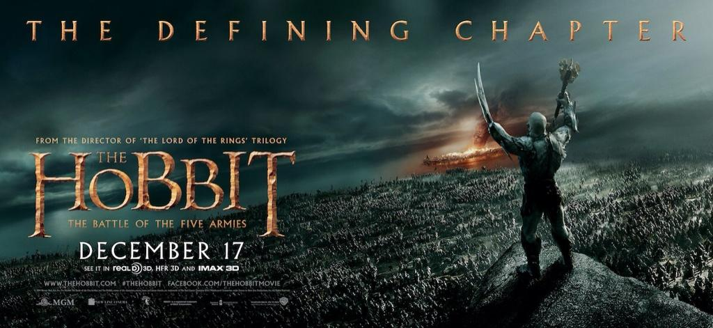 The Hobbit: The Battle Of The Five Armies - Azog and Armies Banner