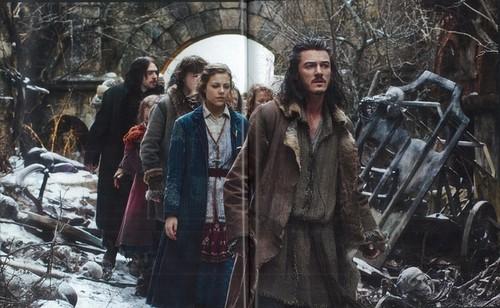 호빗 바탕화면 containing a 거리 and a railroad tunnel entitled The Hobbit: The Battle Of The Five Armies - Official Movie Guide