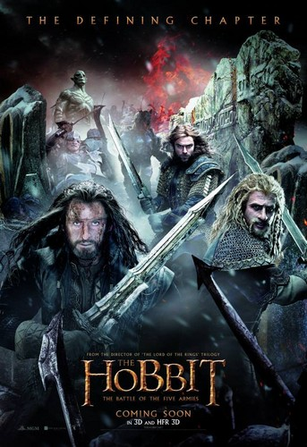 द हॉबिट वॉलपेपर containing ऐनीमे called The Hobbit: The Battle Of The Five Armies - Poster