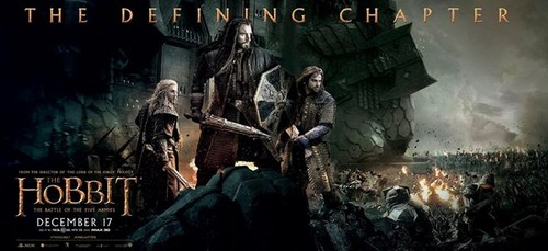 द हॉबिट वॉलपेपर possibly containing ऐनीमे called The Hobbit: The Battle of the Five Armies - Banner