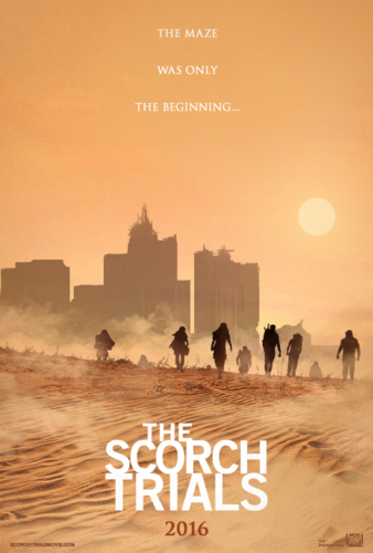The Maze Runner wallpaper possibly containing a herder, a sign, and a business district entitled The Scorch Trials
