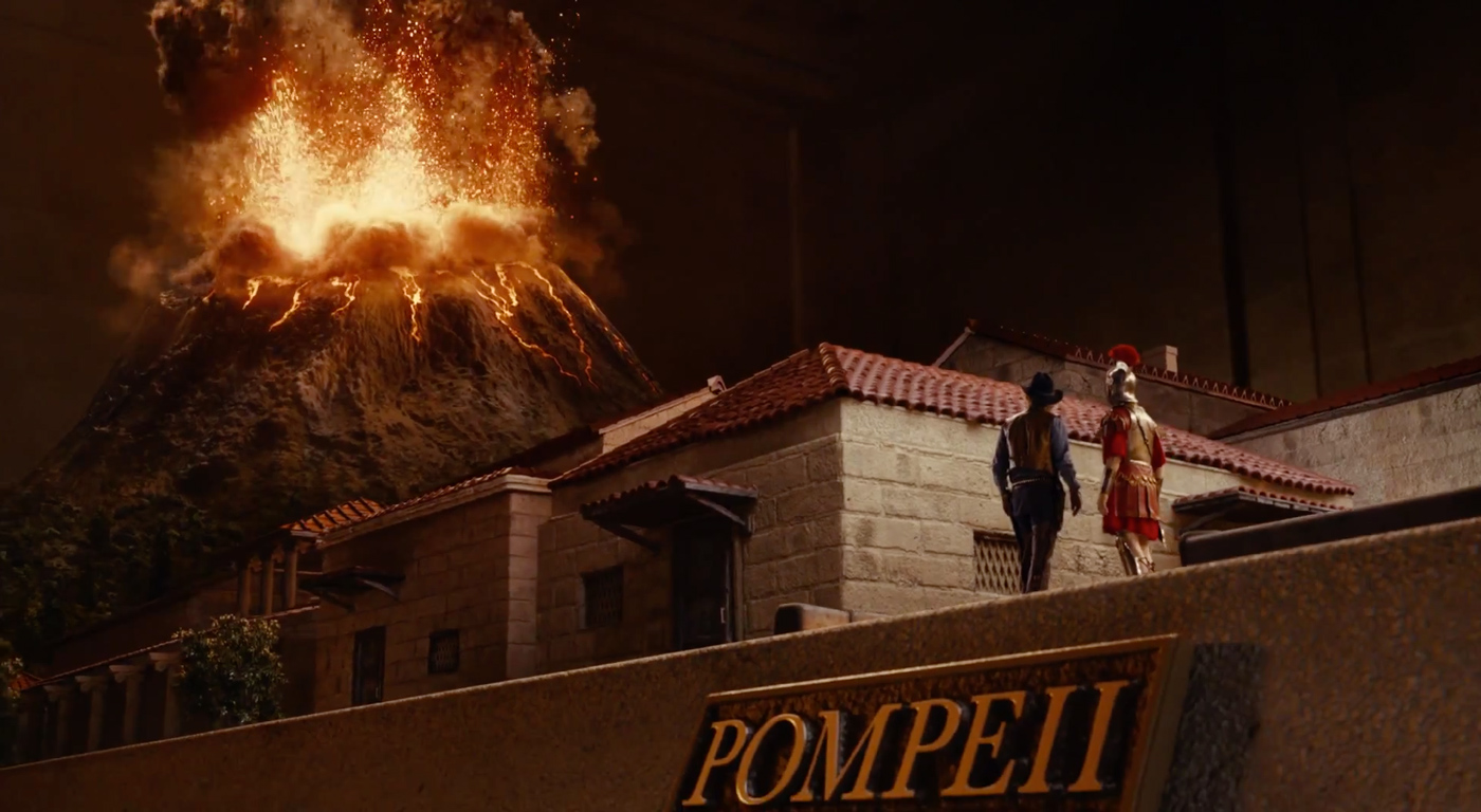 night at the museum: secret of the tomb images the volcano erupts hd