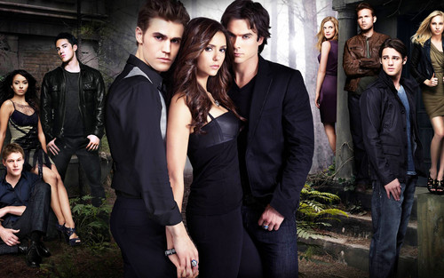 diários do vampiro wallpaper containing a business suit entitled The vampire diaries