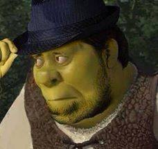 Shrek achtergrond titled This is my swamp