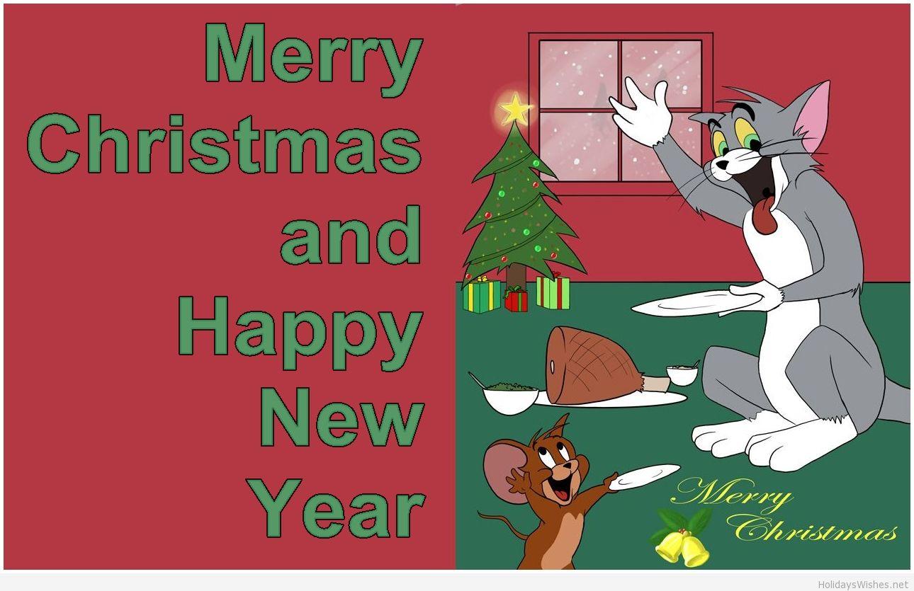 Tom and Jerry krisimasi karatasi la kupamba ukuta