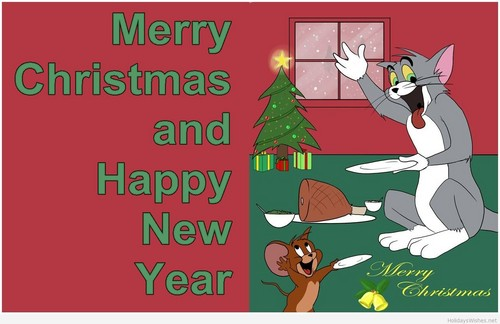 Tom and Jerry wallpaper with anime titled Tom and Jerry Christmas Wallpaper
