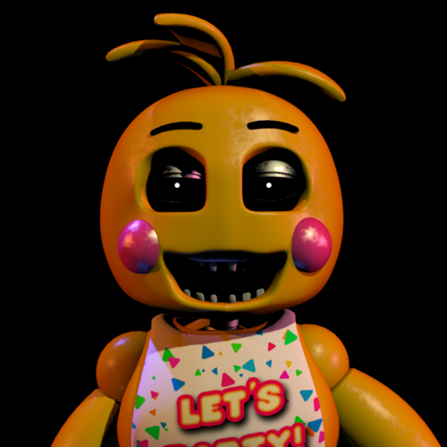 Five Nights at Freddy's (Пять ночей с Фредди) Обои titled Toy Chica (Missing beak and eyes)