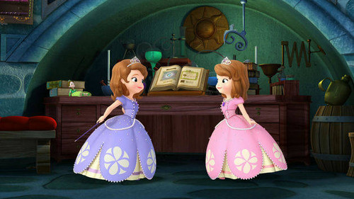Sofia The First wallpaper titled Two Sofias purple and pink