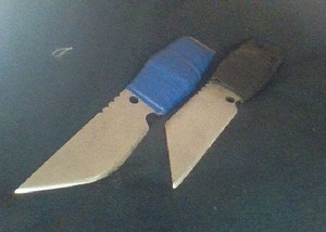 Two of my many homemade knives