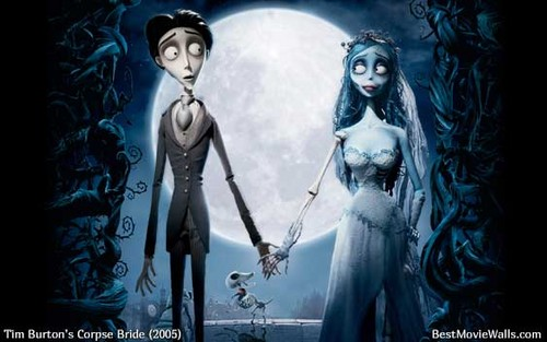 Corpse Bride wallpaper containing a fountain titled Victor and Emily